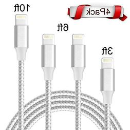 Cable,ONSON iPhone Cable 4Packs 3FT 6FT 6FT 10FT to USB Sync