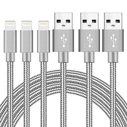 Ulimag Lightning Cable 3Pack 3FT 6FT 10FT Nylon Braided Cert