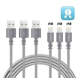 Lightning cable TIMMY 3Pack 6FT Nylon Braided IPhone Charger