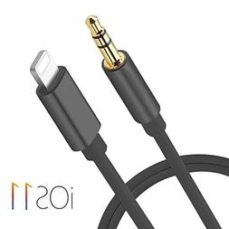 Lightning to 3.5mm Male Aux Audio Cable iPhone 7 Car Aux Cab