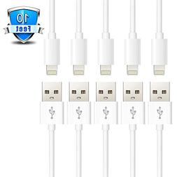 JINHONG 5 Pack 10 Feet 3 Meters Lightning to USB Cable Extra