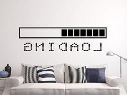 Loading Bar Wall Decal Vinyl Sticker Decals Gaming Video Gam