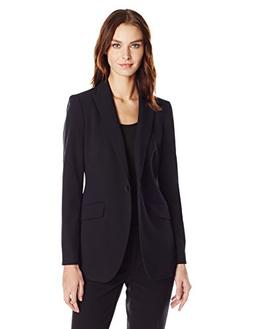 Women's Anne Klein Long Boyfriend Suit Jacket, Size 16 - Bla