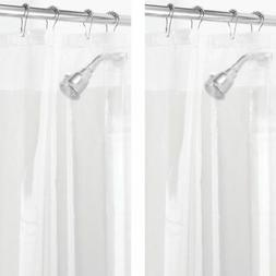 "mDesign LONG PEVA Shower Curtain Liner for Bath, 72"" x 84"","