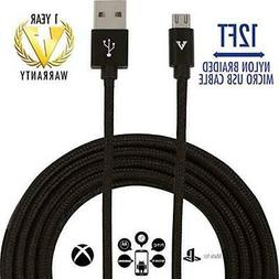 12 FT LONGEST Micro USB to 2 Nylon Braided Most Durable Char