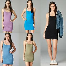 LOT OF 10 Extra Long Camisole Tank Top Dress Tunic Slip Stre