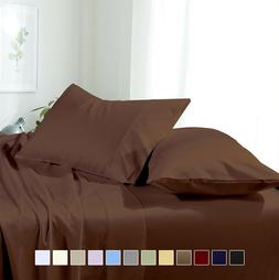 Luxury Bed Sheet Set- Solid Brushed Microfiber Wrinkle-Free