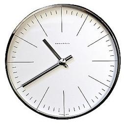 Max Bill Modern Wall Clock with Lines 8.7""