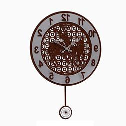 MCC Creative Hollow Round Swing Wall Clock Fashion Personal