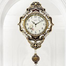 MCC Retro Luxurious Wall Clock European Style Oversized Past