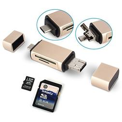 Memory Card Reader, YCCTEAM SD/Micro SD Card Reader, USB Typ