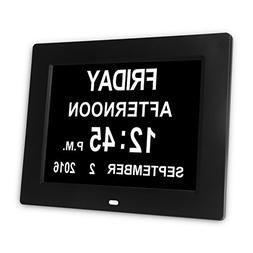 YOANKU Memory Loss Digital Calendar Day Clock - with Extra L