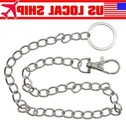 Men Silver Casual Metal Extra Long Wallet Chains Key Chain B