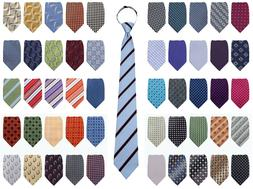 ** Mens Extra Long Zipper Tie Black-Blue-Green-Red-Yellow