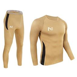 Men's Thermal Underwear Set, Sport Long Johns Base Layer for