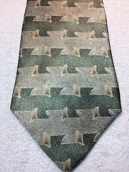 TODAYS MAN MENS TIE SAGE GREEN WITH GRAY 4 X 62, EXTRA LONG,
