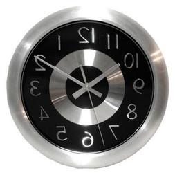 Infinity Instruments Mercury Black 10-Inch Wall Clock