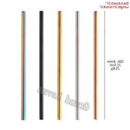 Metal Extra Long 8mm Wide Straw Stainless Steel Drinking Str