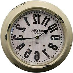 "HDC International 05-0084 Metal Wall Clock, Gray, 12"" Round"