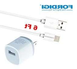 Fordigi® Apple MFi Certified 6 Feet  8-Pin Cable to USB 2.0