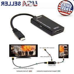 MHL Micro USB Male to HDMI Female Adapter Cable for Android