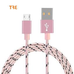 Micro USB Cable, Binguowang Nylon Braided Android Charger Co