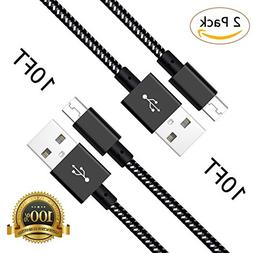 Sngg Micro USB Cable, Long Nylon Braided High Speed 2.0 USB