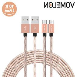 Micro USB Cable, 2Pack 10FT Nylon Braided Tangle-Free High S