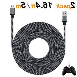 Micro USB Cable, Amoner 2-Pack Extra Long 16.4FT/5M High Spe