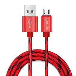 Micro USB Cable Android, Awengu Extra Long 6Ft High Speed Br