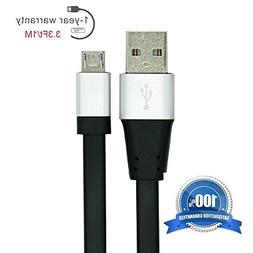 Micro USB Cable Hi Speed Short 3 Foot Quick Charge 2.0 Cord