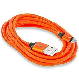 Micro USB Cable, PROWORX Durable Micro USB  Orange Cable Hig