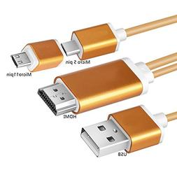 aceyoon Micro USB to HDMI Android Cord 1080P Mobile High Def