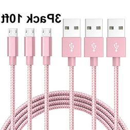 Micro USB Lightning Cable, VPR 3Pack 10 FT Android Charger C