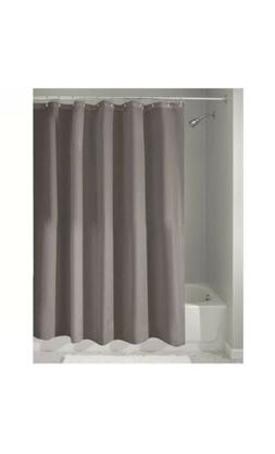 Mildew-Free Water-Repellent Fabric Shower Curtain, Long, 72