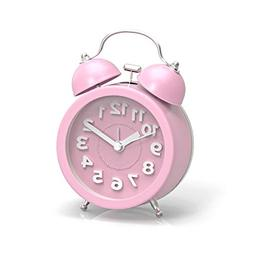"PiLife 3"" Mini Non-ticking Vintage Classic  Analog Alarm Clo"