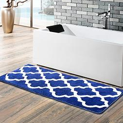 Moroccan Patten Extra Long Bathroom Rug, Uphome Microfiber W