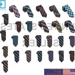 Multicolors Skinny,Classic,Extra Long Ties Checkers Creative