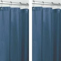Navy Shower Curtain Liner Pack Of Two 72 x 84 Extra Long Mil
