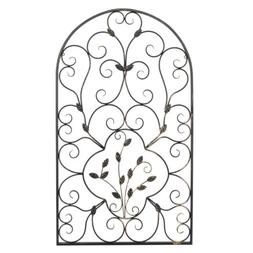 """New 41""""H Hanging Wrought Iron Metal Wall Art Decorative leaf"""