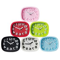New Alarm Clock Candy Color Battery Silent Home Desk Table A