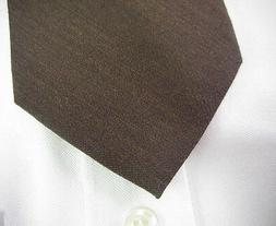 New! BROOKS BROTHERS Brown Wool Silk Neck Tie ~ XL ~  Extra