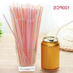 new colorful disposable party drinking straws extra