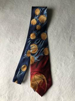 New J Garcia Tie Extra Long XL Sunset Collect 3 Blue Red Bas