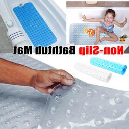 Non-Slip Bath Tub Mat Extra Long Safety Bathroom Shower Floo