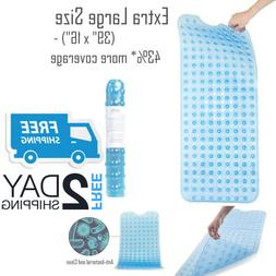 Non Slip Bath Tub Mat Extra Long Anti Slip Large Shower Squa