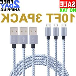 Anker 10ft / 3m Nylon Braided Micro USB Cable for Android, S