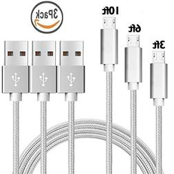 Nylon Braided USB to USB A cable, High Durability, Tangle-F