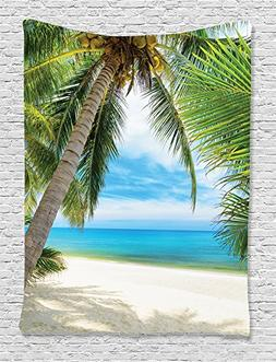 Ocean Decor Tapestry Wall Hanging By Ambesonne, Shadow Shade