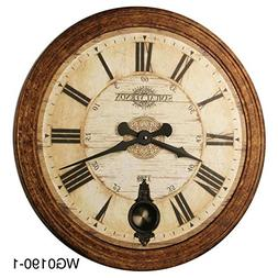 30-inch High-end Oversized Vintage Style Pendulum Wall Clock